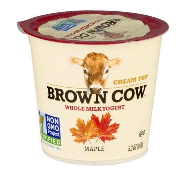 Brown Cow Plain Cream Top Yogurt