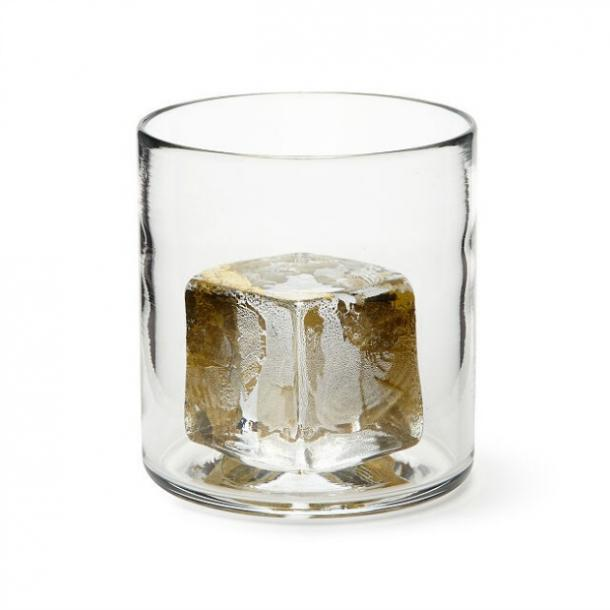 Gold Ice Chill-able Whiskey Glass