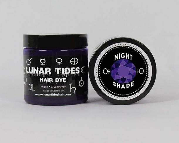 Lunar Tides Semi-Permanent Vegan Hair Dye in Nightshade Dark Purple