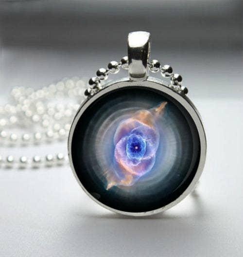 Cat's Eye Nebula Pendant Necklace