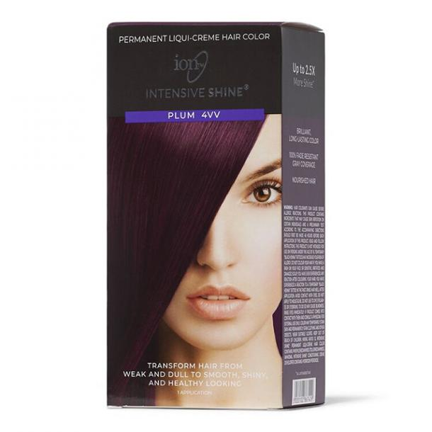 Ion Intensive Shine Hair Color Kit in Plum