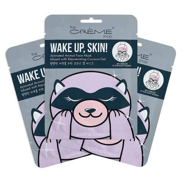 Korean Skin Care Wake Up, Skin! Animal Raccoon Face Sheet Mask