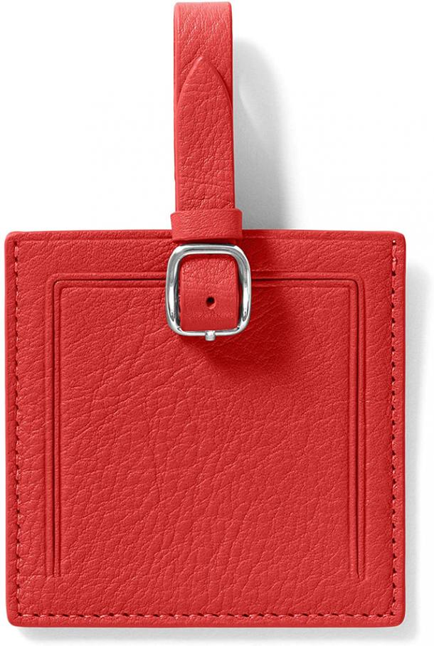 Leatherology Scarlet Square Luggage Tag