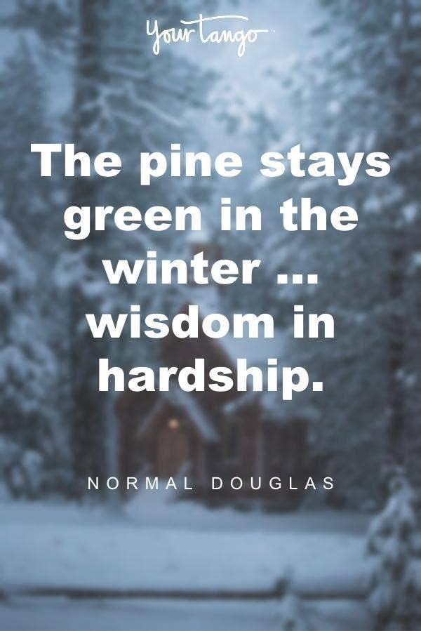 Norman Douglas winter solstice quote