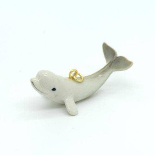 Porcelain Beluga Whale Pendant