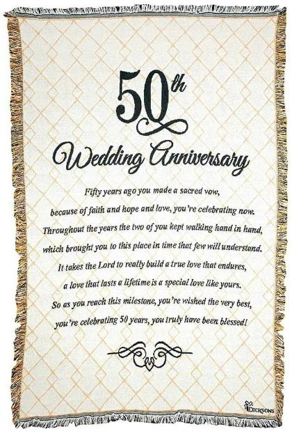 Dicksons 50th Wedding Anniversary Cotton Tapestry