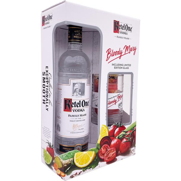 Ketel One Vodka Gift Set With Bloody Mary Glass
