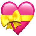 heart with ribbon emoji