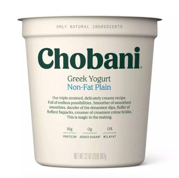 Chobani Plain Nonfat Greek Yogurt