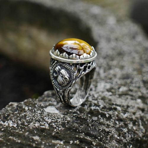 'Sumatra' Sterling Silver Tiger's Eye Ring
