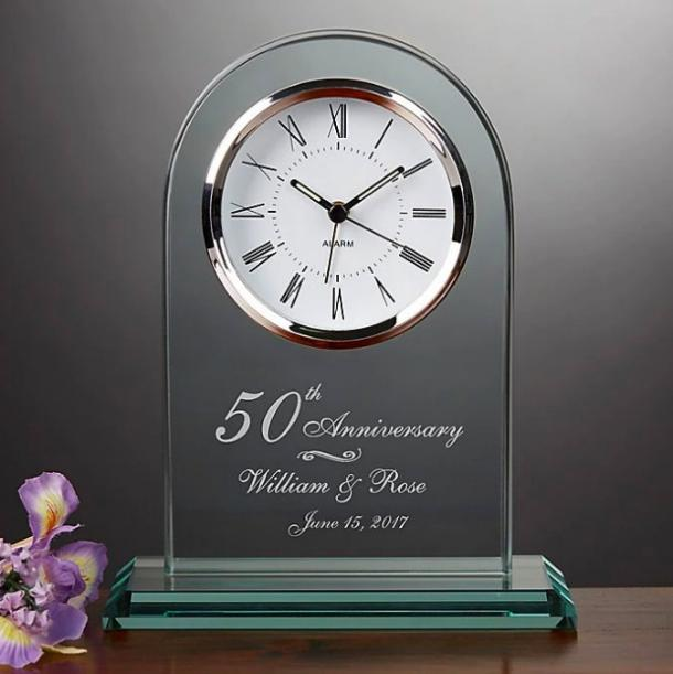 Everlasting Love Anniversary Table Clock