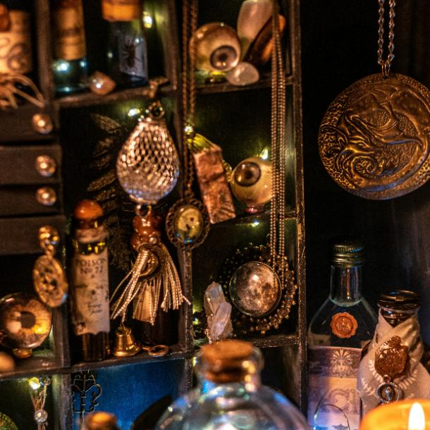 halloween wedding ideas apothecary