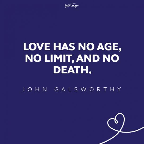 john galsworthy love quote