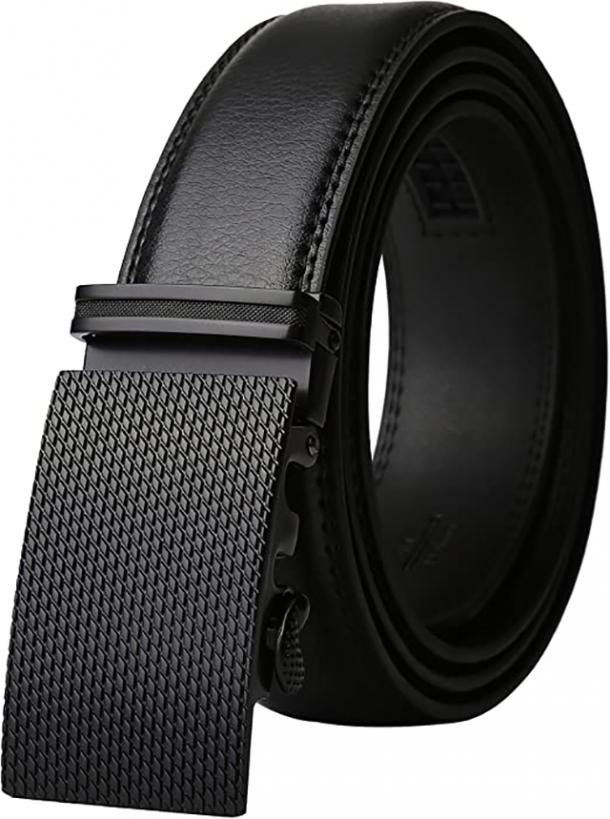 Lavemi Leather Dress Belt with Automatic Buckle