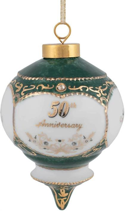 CBE 'Happy 50th Wedding Anniversary' Jewel Victorian Ornament