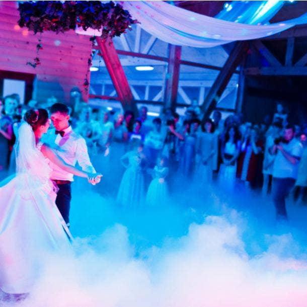 halloween wedding ideas blue lights