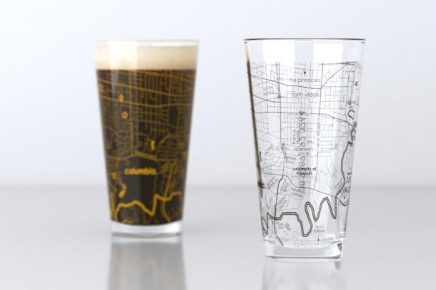 Well Told College Town Map Pint Glass Pair