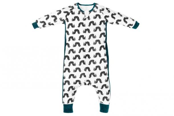 Eric Carle Black Caterpillar Long Sleeve Sleep Suit