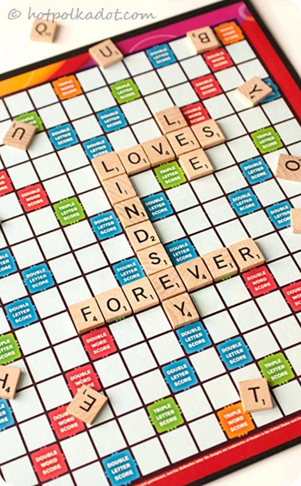 Double Word Score Scrabble Art
