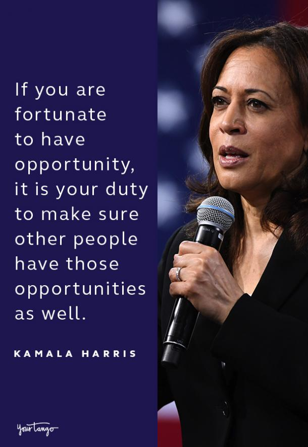 kamala harris quote about opportunities