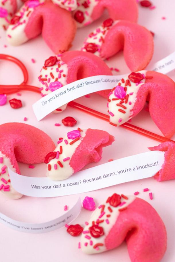 Valentine's Pick-up Line Fortune Cookies