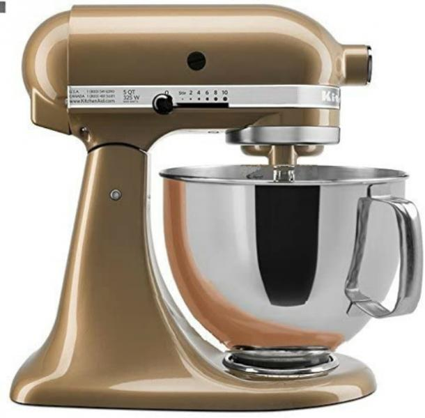 KitchenAid Stand Mixer Tilt Head 5-Quart in Champagne Gold
