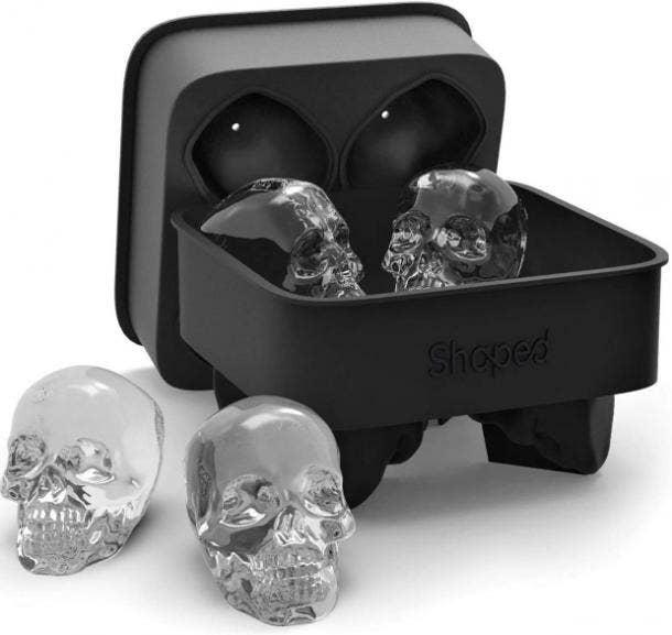 halloween wedding ideas skull ice cube