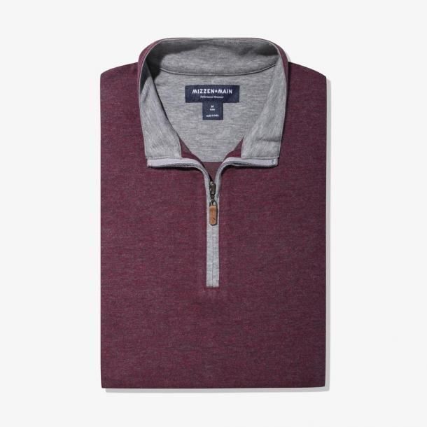 Fairway Pullover - Burgundy Gray Heather