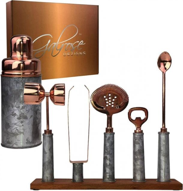 GALROSE Cocktail Shaker Set in Rose Gold