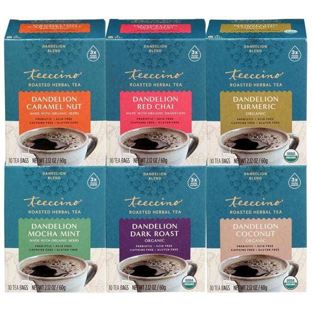 Teeccino Dandelion Tea Variety Pack