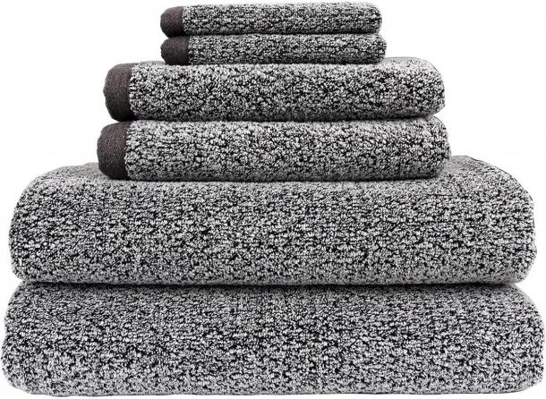 Everplush Diamond Jacquard Towels 6 Piece Bath Towel Set