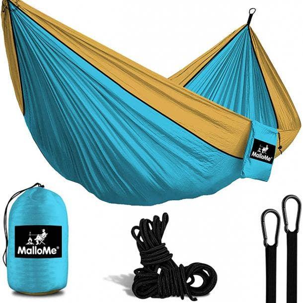 MalloMe Camping Hammock with Ropes