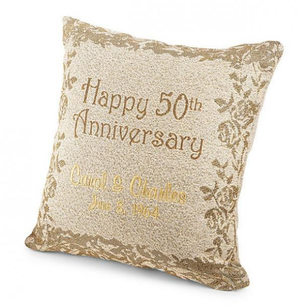 Personalized 50th Anniversary Pillow