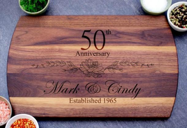50th Anniversary Custom Cutting Board