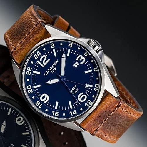 Torgoen T25 GMT Blue Pilot Watch