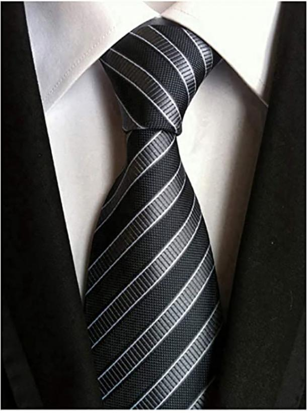 Secdtie Classic Stripe Jacquard Woven Silk Tie