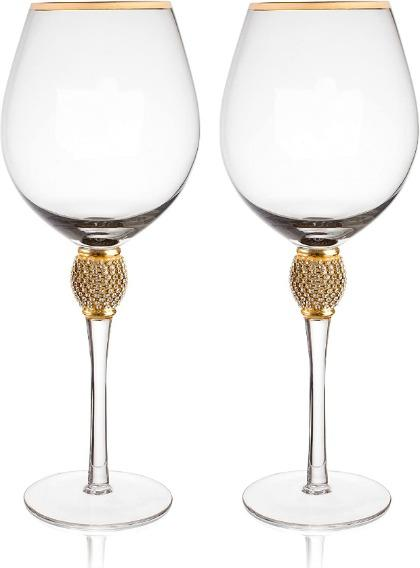 Trinkware Gold Rimmed Wine Glasses