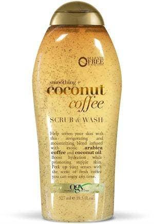 Ogx Smoothing+ Coconut Coffee Scrub & Wash
