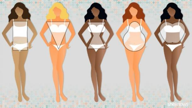 5 female body shapes
