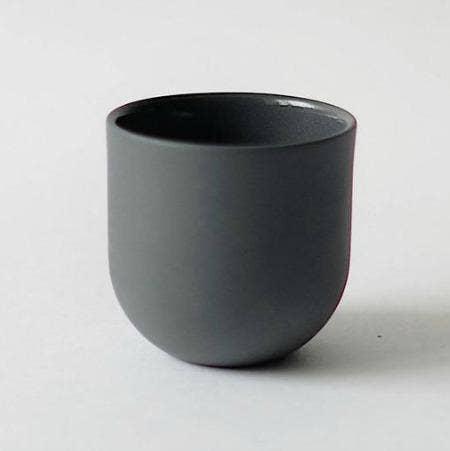 Dark Grey Porcelain Espresso Cup