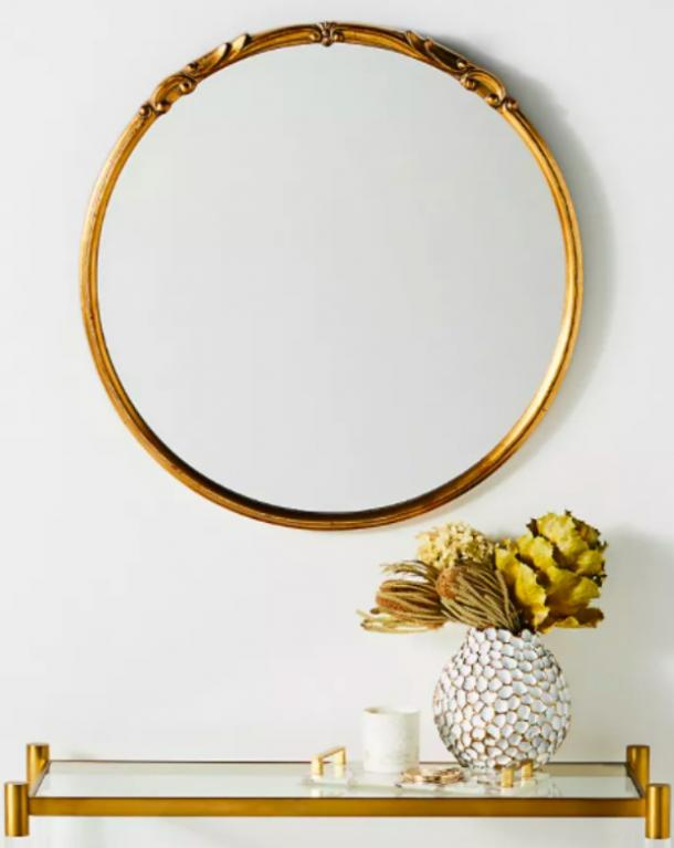 Emma Mirror in Antique Gold