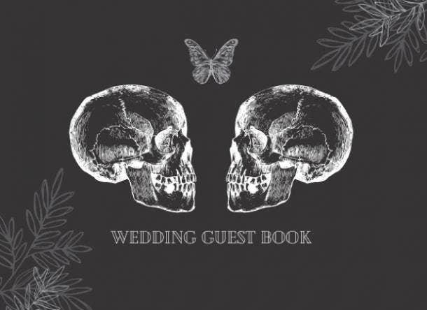 halloween wedding ideas guest book