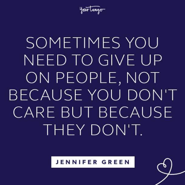 Jennifer Green toxic relationship quote
