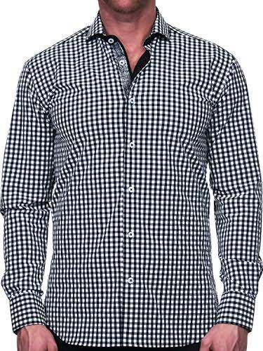 Maceoo Mens Designer Dress Shirt