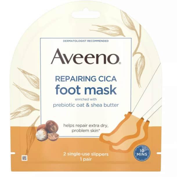 Aveeno Repairing Cica Moisturizing Foot Mask