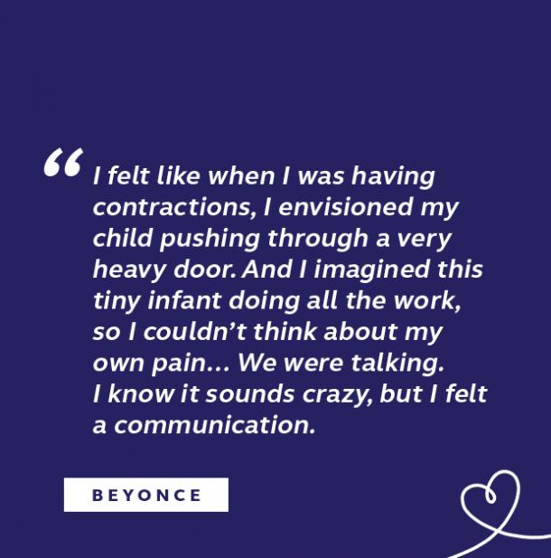 Beyonce quote about childbirth