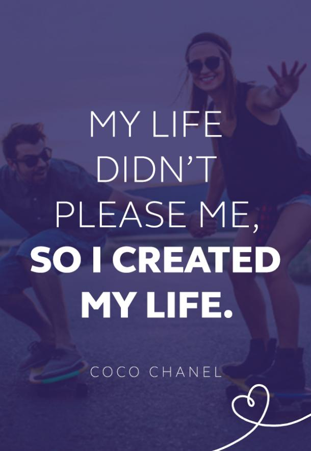 Coco Chanel quote about life