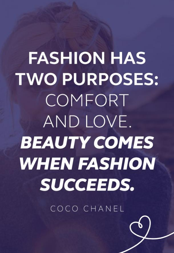 Coco Chanel quote about fashion