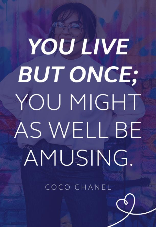 Coco Chanel quote about confidence