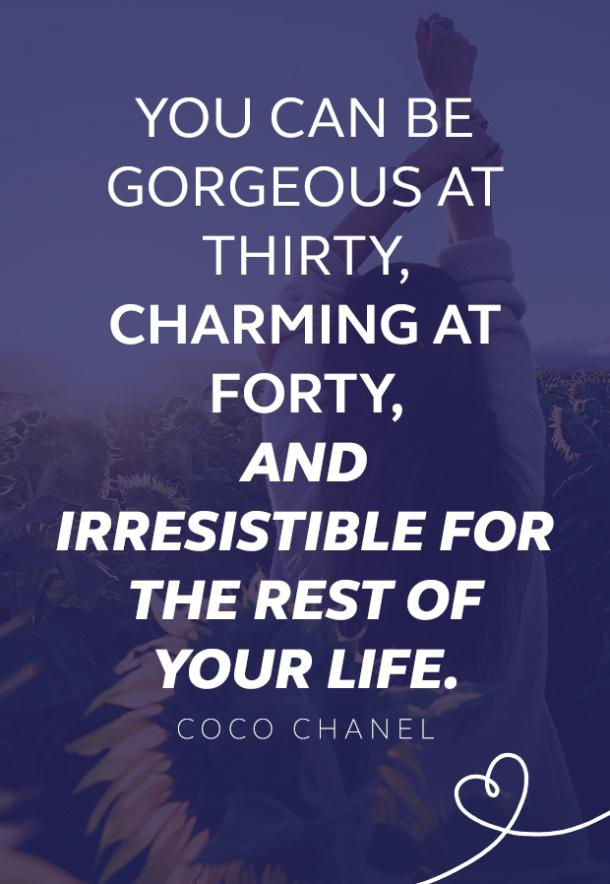 Coco Chanel quote about beauty